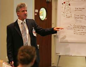 Martin teaching an ethics programme