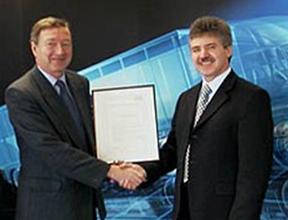 Martin Haigh accepting an award